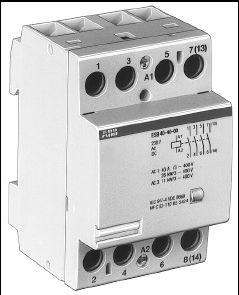 полюса на схеме запараллелены, но, так как удалось найти контактор именно на расчетный ток 63А, то можно использовать...