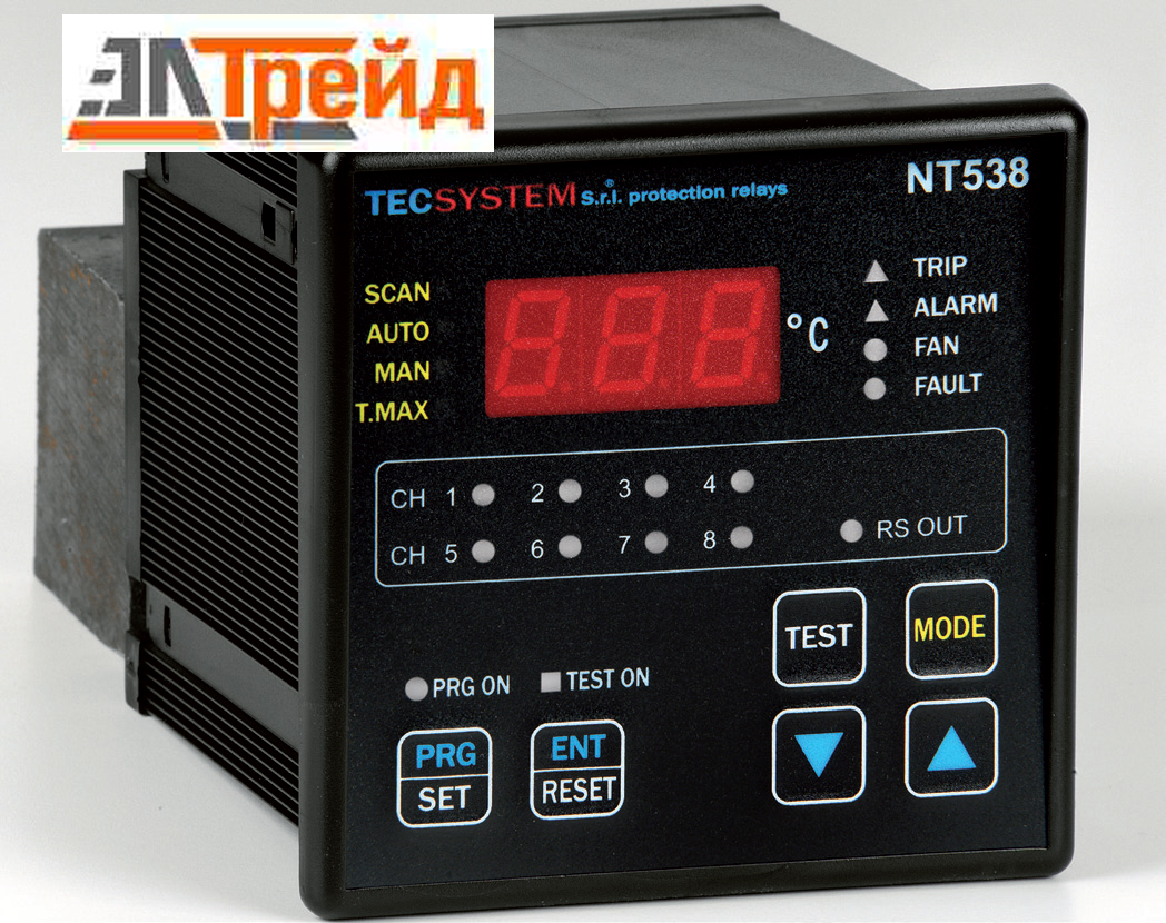 TecSystem NT538 DIGITAL Блок контроля температуры с RS485 и MODBUS выходами